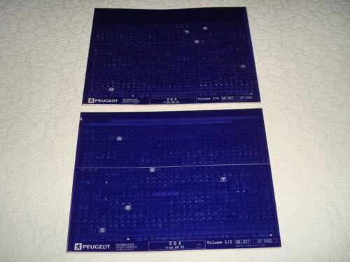 PEUGEOT 205 dal modello anno 1990 Parti Microfiche Set Completo di 2 LUGLIO 2001 NUOVO