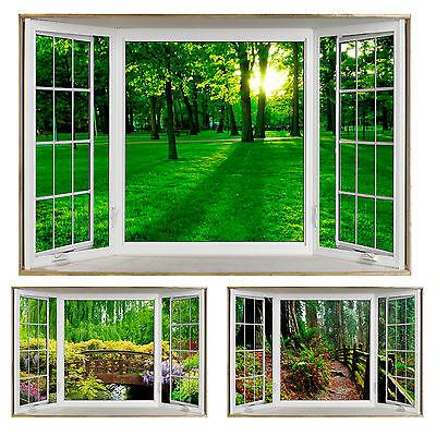 Faux Wooden 4 Pane Bay Window Fake Window Illusion POSTERS Various Views