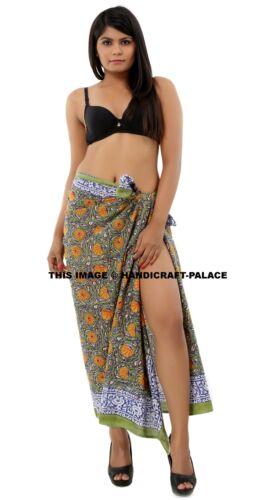 5 PC LOT INDIAN COTTON BEACH SARONGS LIGHTWEIGHT SWIMWEAR COVER-UP SARONG WRAP