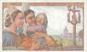PLAQUE MÉTAL  billet de banque 20 francs   30 X 20 CM