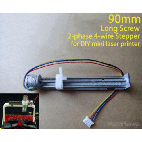 DC4V~6V 5V 90MM 2-phase 4-wire Stepper Motor Mini Screw slider DIY Laser Printer