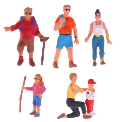MagiDeal 6pcs Menschen Figur Haltung Modell Zug Architektonische 1:87
