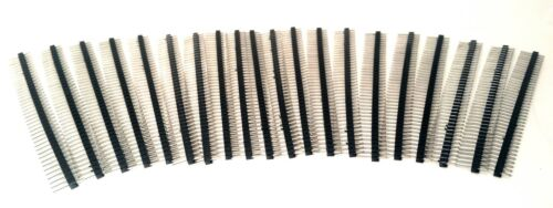 """20 Pack Trimmable Headers 40 Pins 0.1"""" Pitch"""