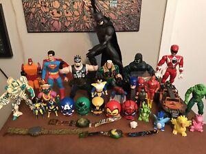 Retro Figure Lot Pokemon Dc Marvel Transformers TMNT Power Rangers And More Used