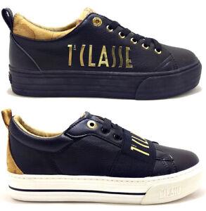 ALVIERO-MARTINI-1-CLASSE-sneakers-geo-scarpe-donna-tessuto-pelle-camoscio-zeppa