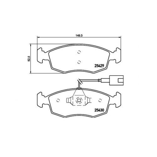 D LPG Bifuel Evo 500 C 0,9-1,4 Textar Bremsbeläge vorne Fiat Punto