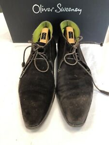 Oliver-Sweeney-Brown-Suede-Chukka-Boots-Size-8