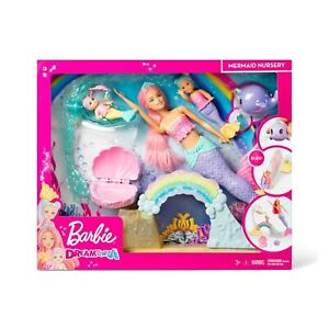 Barbie-Mermaid-Nursery-Playset-Babies-Slide-FXT25