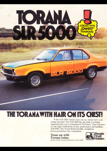 "1976 LX HOLDEN TORANA SLR 5000 AD A2 CANVAS PRINT POSTER 23.4""x16.5"""