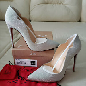 d058df336006d9 NIB Christian Louboutin Hot Chick 100 Glitter Pumps 40 as So Kate ...
