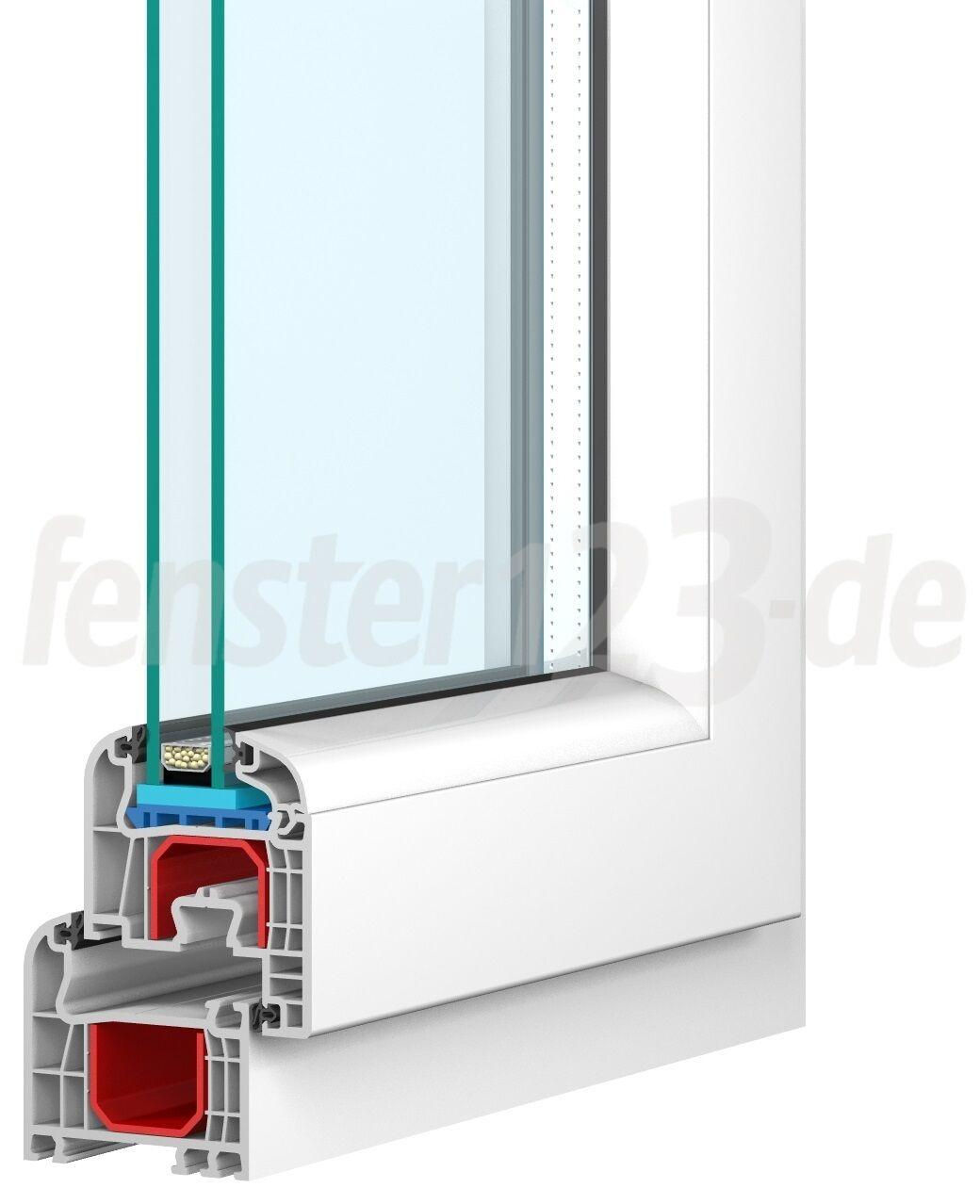 Fenster Kunststofffenster PVC Breite 1400mm alle Höhen Dreh Kipp Kunststoff NEU