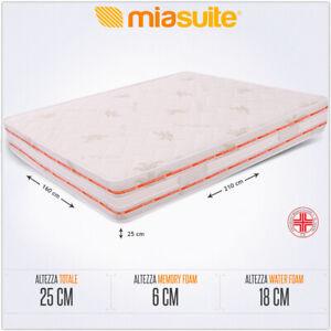 Materasso Memory 6 Cm.Materasso Matrimoniale Memory Foam 6 Cm 160x210 Alto 25 Cm Fuori