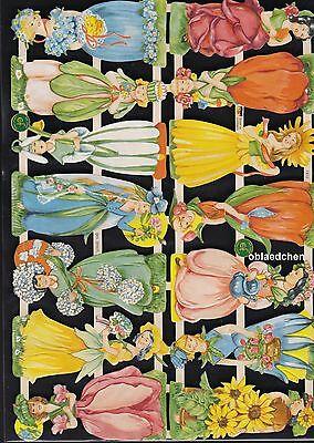 GemäßIgt # Glanzbilder # Ef 7412 Bogen Von 2014 Mit Traditionellen Methoden Wunderhübsch 14 Blumen Elfen