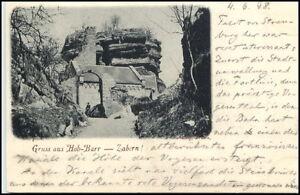 Saverne-Zabern-France-Frankreich-CPA-1898-Partie-an-der-Burg-Hohbarr-Fort