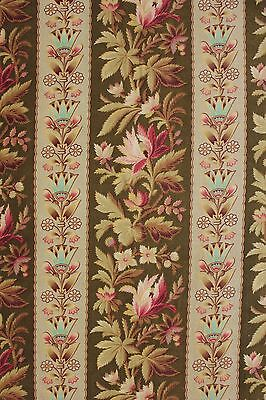 Antique French fabric Egyptian material heavy weight motif design