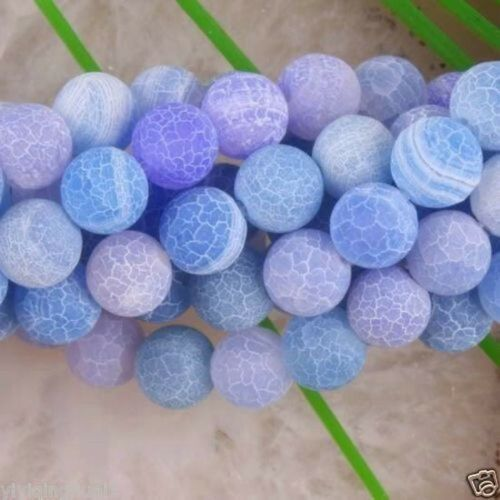 "6 Couleurs Dream Fire Dragon Veins Agate Gems loose beads Strands 15/"" 6-10 mm"
