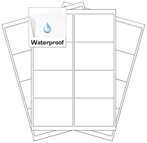 Plastic Durable Weatherproof Stickers Waterproof A4 Labels Laser Printers Only