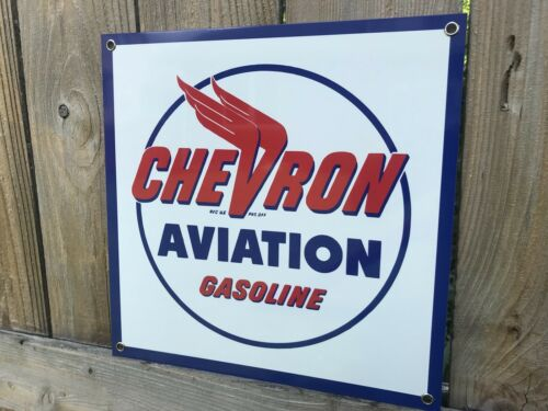 Chevron Aviation oil gasoline vintage advertising sign Reproduction