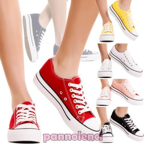 Women's shoes gym sneakers low AN1576 sport canvas laces new AN1576 low 643f41
