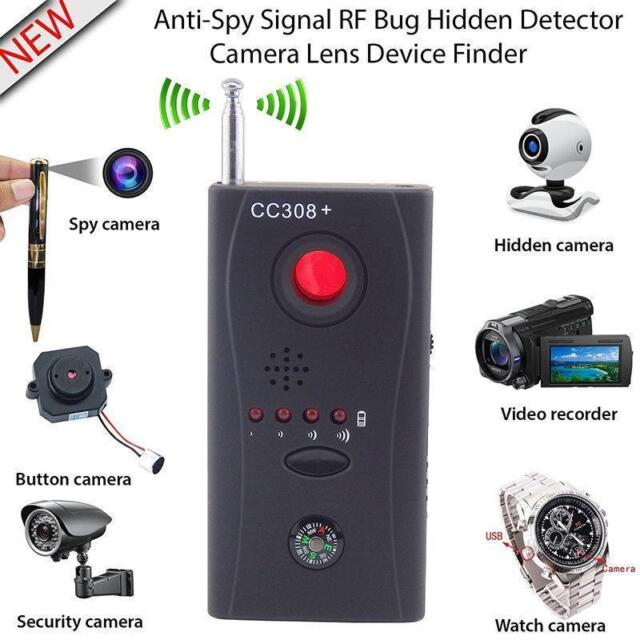 CC308+ Anti-Spy RF Signal Bug Detector Hidden Camera Laser Lens GSM Finder hi