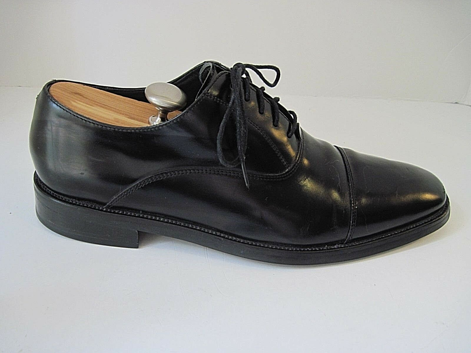 economico online Cole Haan Haan Haan Nke Air Uomo nero  Leather Oxford Cap Toe Dress scarpe Dimensione 11 1 2 M  confortevole