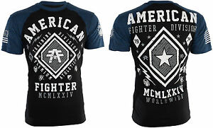 AMERICAN-FIGHTER-Mens-T-Shirt-KENDALL-Athletic-BLACK-BLUE-Biker-Gym-MMA-40