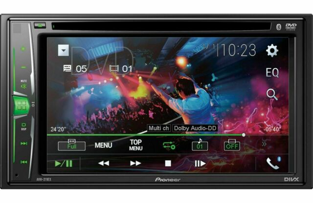 "NEW Pioneer 2 Din AVH-211EX DVD/MP3/CD Player 6.2"" Touchscreen Bluetooth Remote"