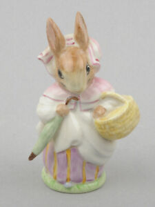Beswick-Beatrix-Potter-Figurine-Mrs-Rabbit-BP-2a-Gold-Umbrella-Out