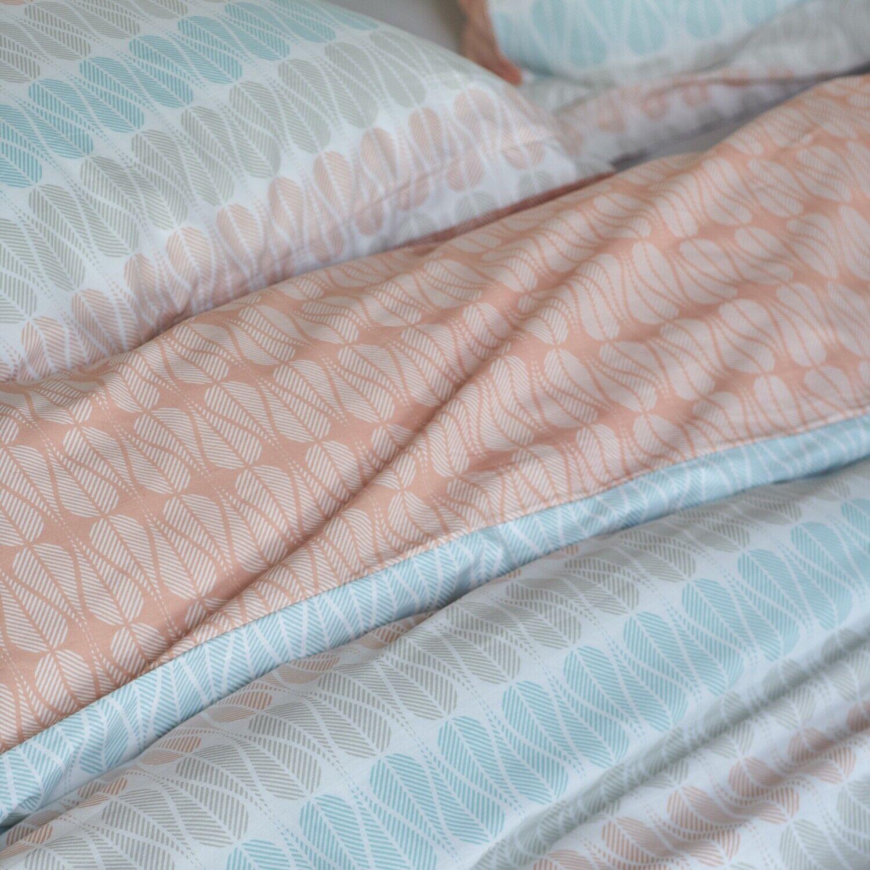 Esprit Bettwäsche Tyra Rosa Blau Blau Blau Orange Streifen Linien Netz Wendeoptik Perkal | Bevorzugtes Material  97f2b4