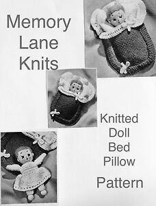 Doll-amp-Bed-Toy-Vintage-Knitting-PATTERN-Miniature-Baby-Bunting-HH