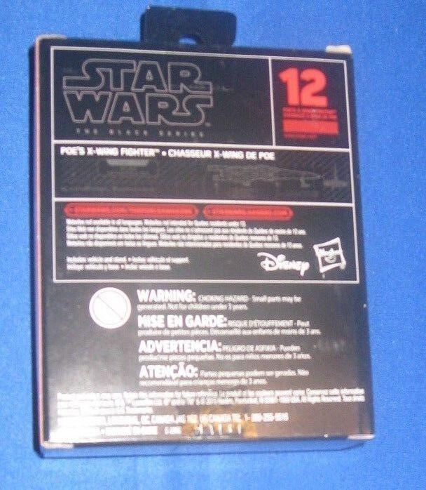 StarWars figurine : Hasbro Star Wars Série Noire Titanium Séries 12 POE de Combat le Réveil la Force