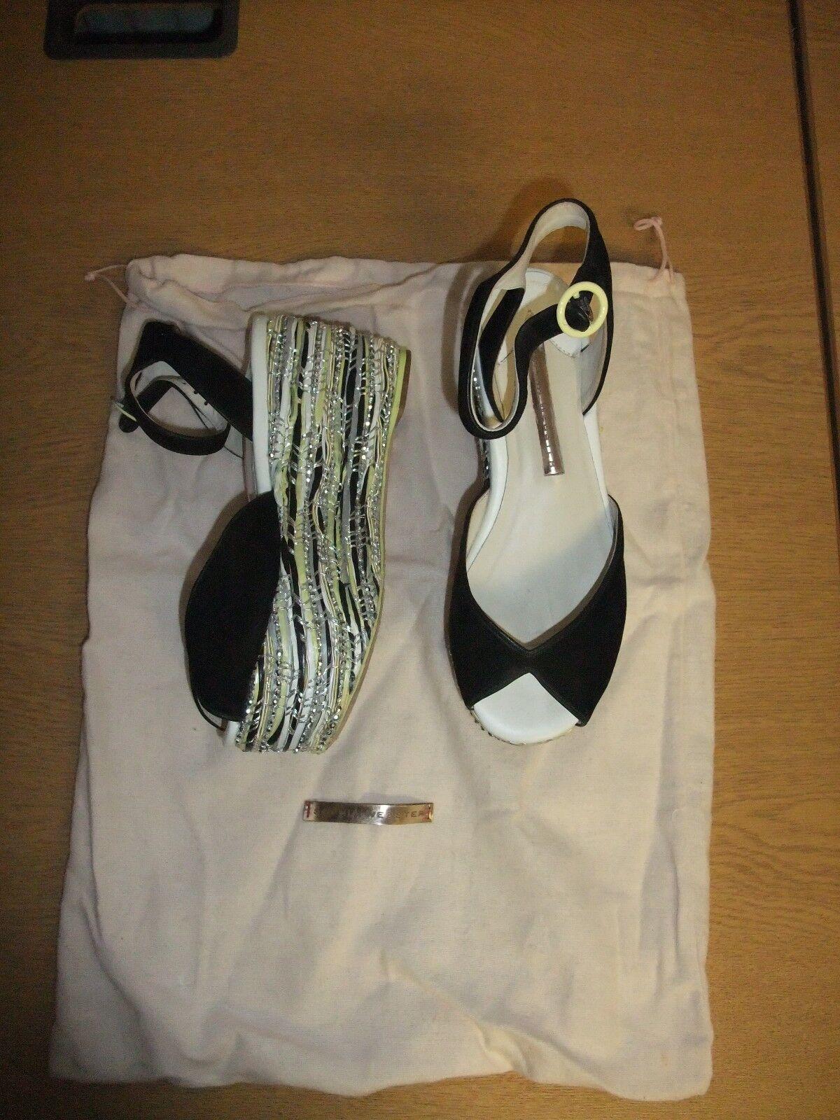 Ladies Shoes Sophia Webster EU 35 black with black/white/silver platform 3257