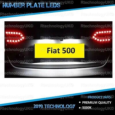 1x Fiat 500 Bright Xenon White 3SMD LED Canbus Number Plate Upgrade Light Bulb