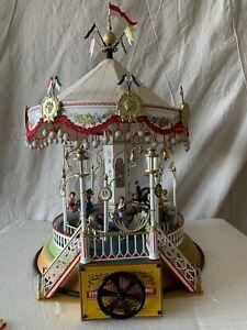 16121-Marklin-Limited-Edition-Tin-Musical-Hand-Crank-Carousel-Merry-Go-Round