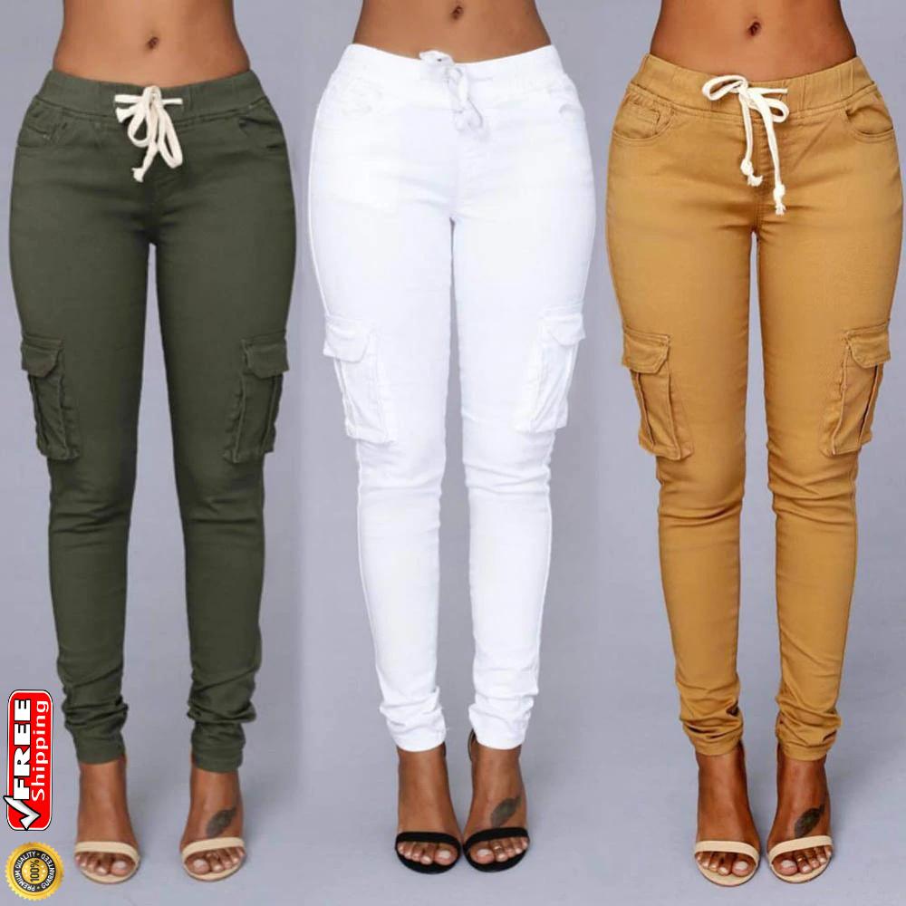 Pantalones Realike Para Mujer Pantalones De Y Moda Tela Rasgados Elegantes Pantalones De Cintura Alta Pantalones De Sudor Elasticos Pantalones Deportivos Suaves Jogginghoes Comodos Pantalones Casuales Mujer Leggings
