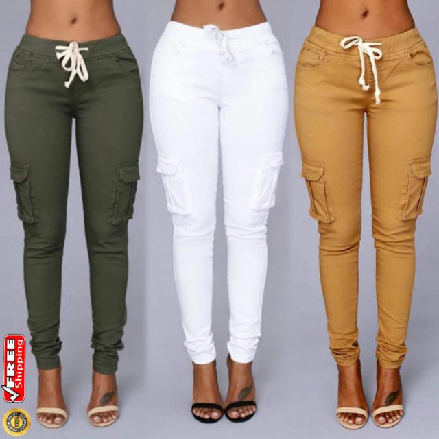 2019 Pantalones Jeans De Tiro Alto Para Mujer Rasgados Cintura Alta Levanta Cola Ebay