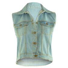f81c0bb3167aa6 item 1 Womens Ladies Celeb Summer Party Sleeveless Crop Denim Vest Jacket  Waistcoat Top -Womens Ladies Celeb Summer Party Sleeveless Crop Denim Vest  Jacket ...