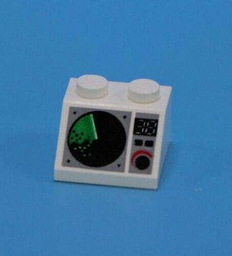LEGO 1 white radar instrument panel for space ship boat airplane helicopter