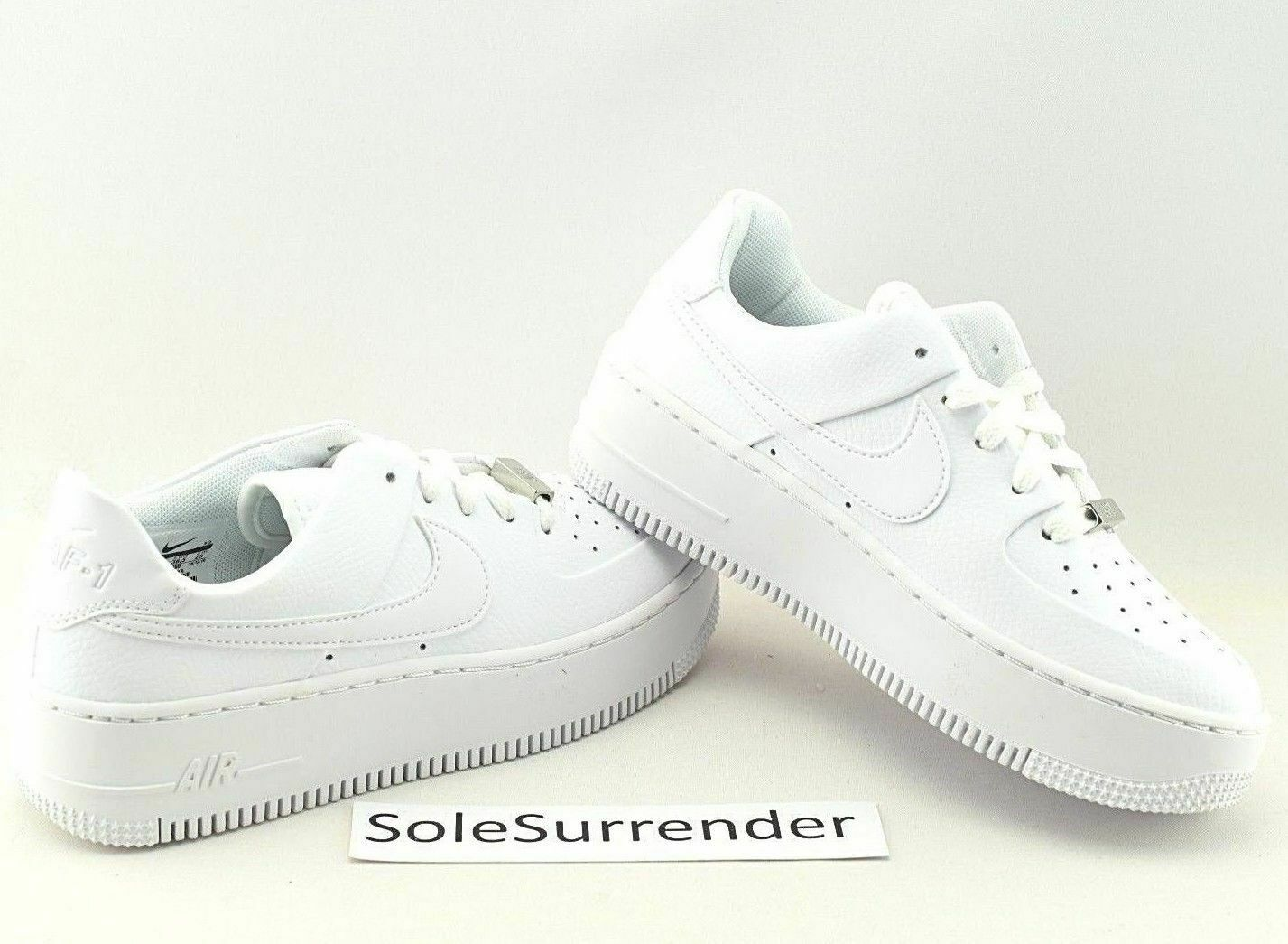 Nike AF1 Sage Low -CHOOSE SIZE - AR5339-100 Triple Whiteout Wedge Air Force 1 XX