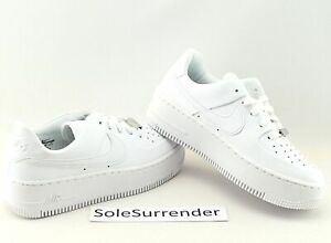 Nike Af1 Sage Low  Choose Size   Ar5339 100 Triple Whiteout Wedge Air Force 1 Xx by Nike