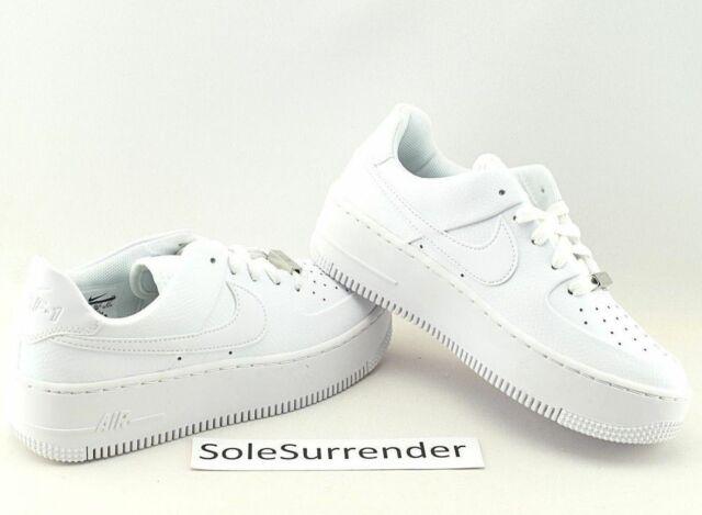 huge discount d3026 84d9d Nike AF1 Sage Low -CHOOSE SIZE - AR5339-100 Triple Whiteout Wedge Air Force  1 XX