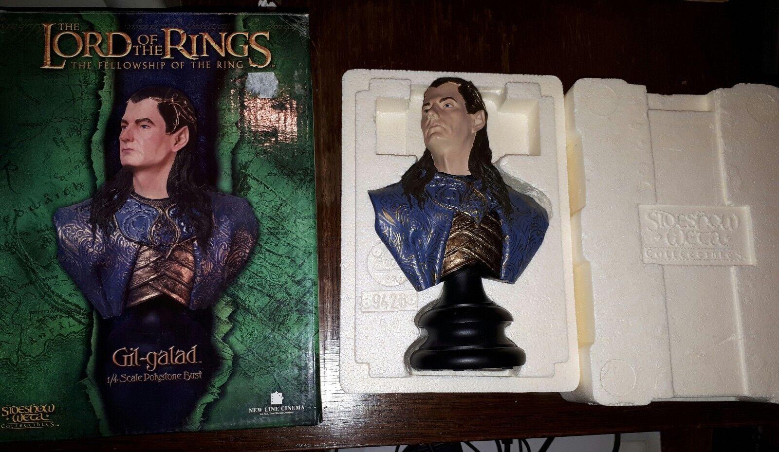 Figurine Seigneur des anneaux Gil Galad sideshow weta buste resin Lotr 1 4 elfe
