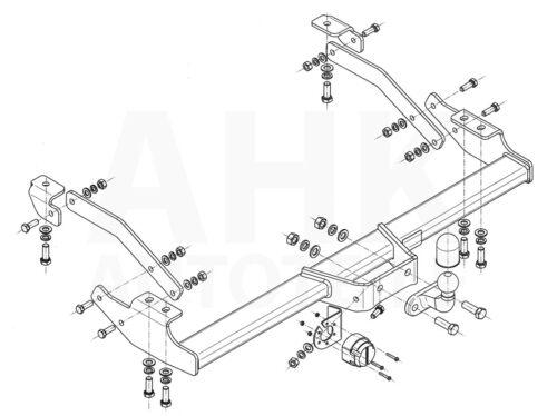 AHK Anhängerkupplung starr+ES 13p uni Für Opel Vivaro Kasten//Minibus ab 14 Kpl