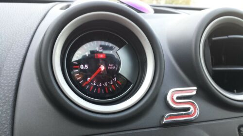 "2.34/"" 60mm BAR LED7707 TURBO BOOST VACUUM GAUGE CAR LED WHITE LED LIGHT DIAL"