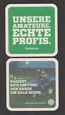 BD , Bierdeckel , Fussball , Unsere Amateure . Echte Profis - DFB ,Rasiert sich.