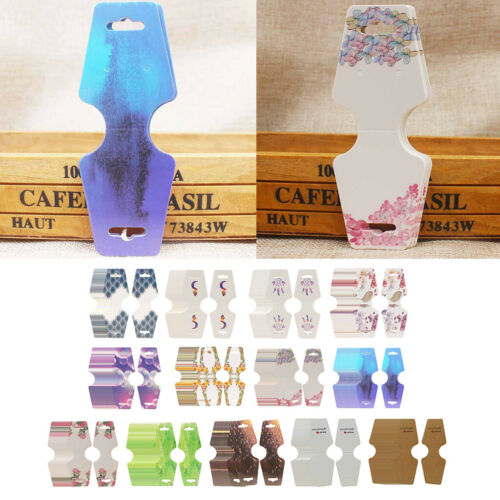 100pc Necklace Folding Card Jewelry Earrings Display Package Hang Cards Tag