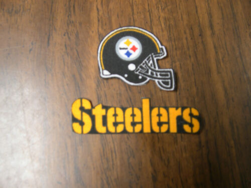 """Pittsburgh Steelers  Iron on Cotton Patch 3/"""" x 1/"""" /& 1 3//4/"""" x 1 1//2/"""" NEW"""