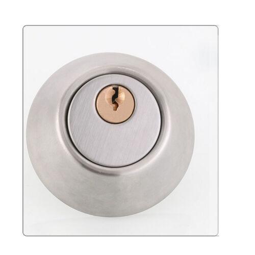 New Stainless Steel Door Lock Deadlock Set Round Cylinder Entry Entrance Keyed