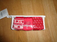 Gymboree 3 Pack Underware Panties Hearts You Choose Size Xs (4) Or S (5-6)