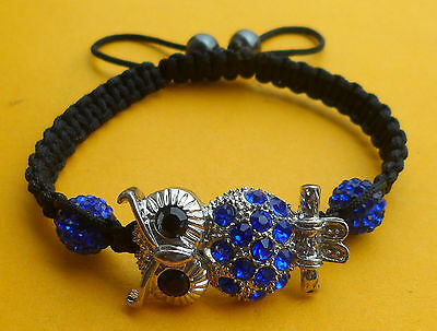 Promotion!!!Hot sale  Shamballa Bracelets - Owl Design-  8  Different Types